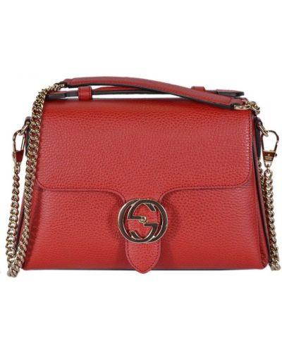 Czerwona torba na ramię Gucci