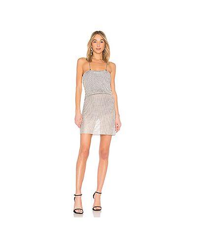 Платье мини с цепочкой алюминиевый Lpa