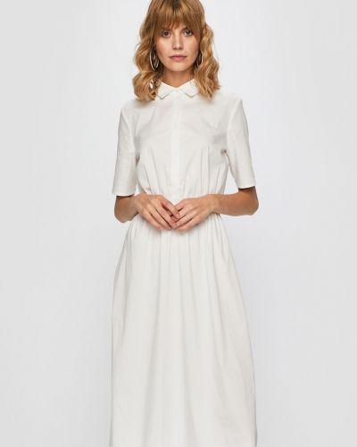 Платье макси однотонное на пуговицах Vila