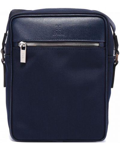 Синяя текстильная сумка Fabi