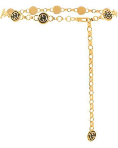 Pasek złoto z paskiem Gucci