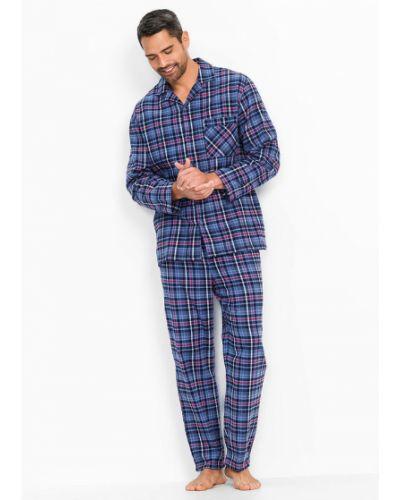 Пижамная красная фланелевая пижама Bonprix
