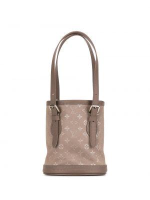 Кожаная коричневая сумка с ручками винтажная Louis Vuitton