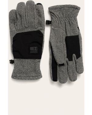 Ciepłe czarne rękawiczki z nylonu Under Armour