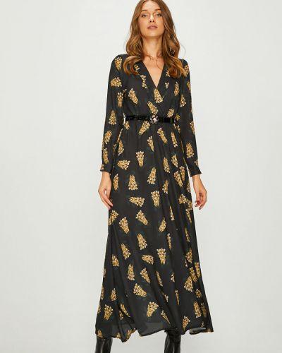 Платье макси с V-образным вырезом с длинными рукавами Answear