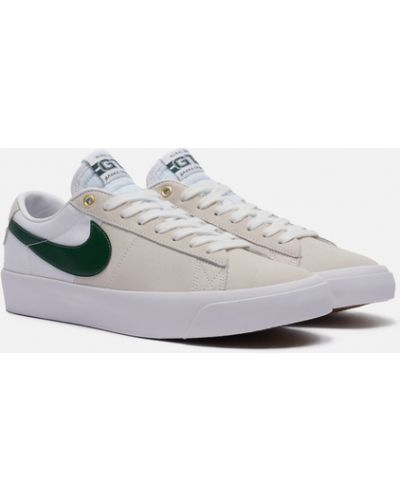 Бежевые кожаные кроссовки Nike Sb