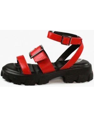 Красные кожаные сандалии Aquamarin