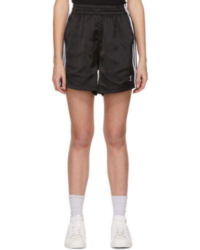 Белые шорты в полоску с карманами Adidas Originals