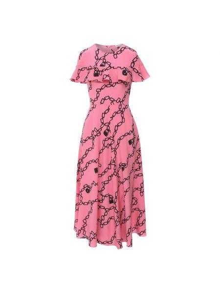 Миди итальянское шелковое розовое платье Redvalentino