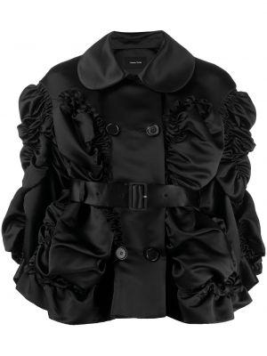 Черная куртка двубортная с воротником Simone Rocha