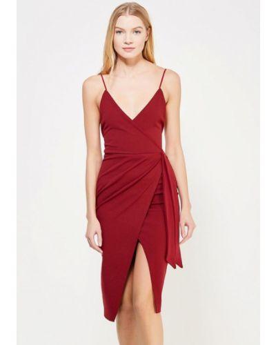Вечернее платье бордовый красный Edge Street