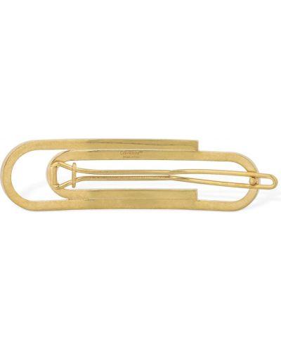 Spinka do włosów metal złoto Off-white
