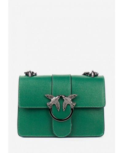 Кожаная сумка через плечо - зеленая Bella Bertucci