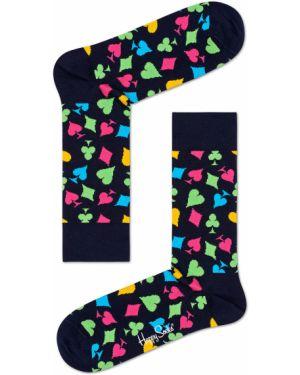 Колготки с узором темно-синий Happy Socks