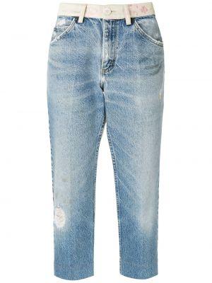 Хлопковые джинсы - синие À La Garçonne