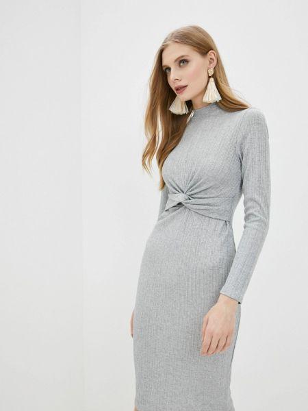 Вечернее платье серое весеннее Ostin