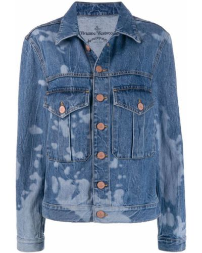 Синяя джинсовая куртка с манжетами на пуговицах Vivienne Westwood Anglomania
