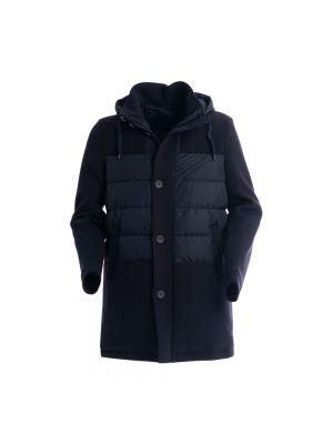 Płaszcz puchowy - niebieski Herno