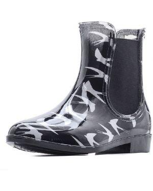 Ботинки на каблуке черные на каблуке Tervolina