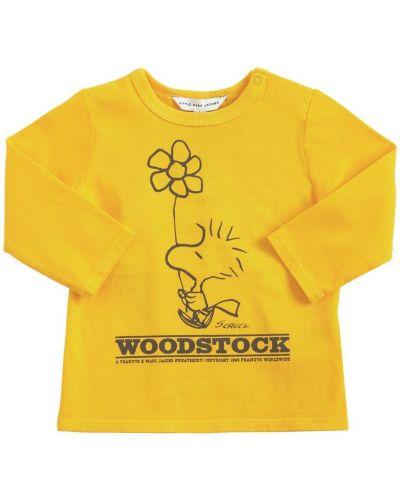 С рукавами футболка с вырезом круглая Little Marc Jacobs