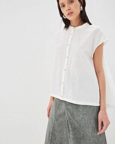 Блузка с коротким рукавом белая весенний Hassfashion