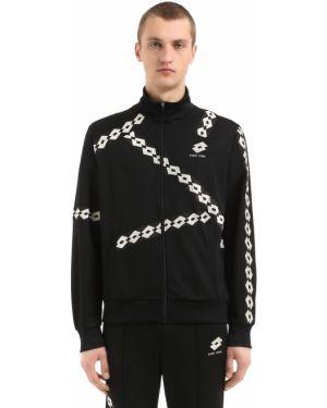 Prążkowana czarna kurtka z nylonu Damir Doma