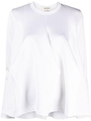 Biały top z długimi rękawami Comme Des Garcons