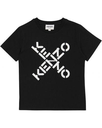 Лонгслив - черная Kenzo Kids