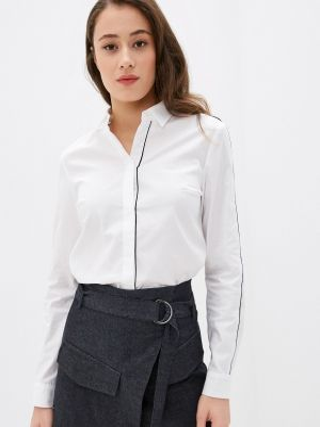 Белая блузка с длинным рукавом Rivadu