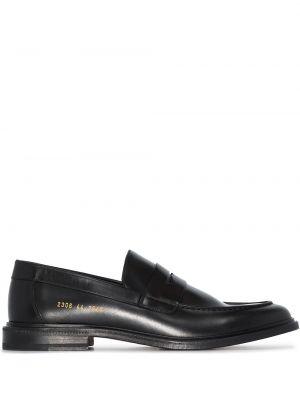 Czarne loafers skorzane Common Projects