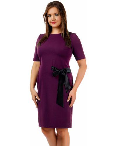 Платье мини атласное - черное Liza Fashion