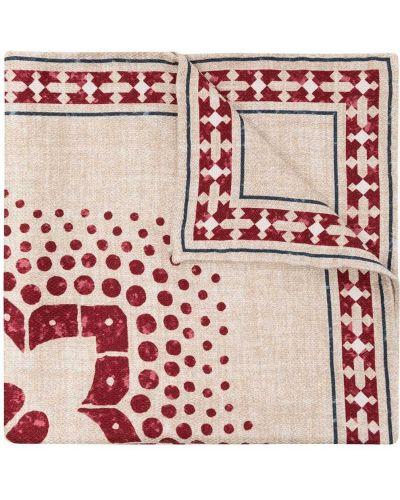 Jasnoróżowy jedwab chusteczka przycięte plac Brunello Cucinelli