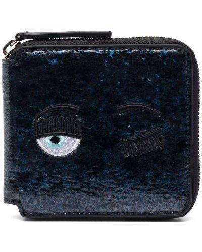 Мерцающий синий кошелек для монет на молнии Chiara Ferragni Kids