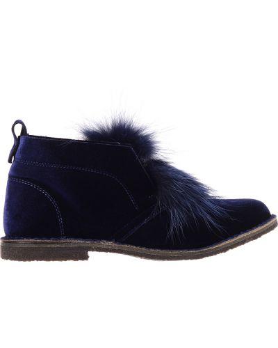 Кожаные ботинки осенние синий Pokemaoke