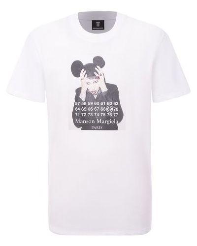 Хлопковая белая футболка Diego Venturino