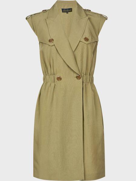 Платье на пуговицах - зеленое Luisa Spagnoli