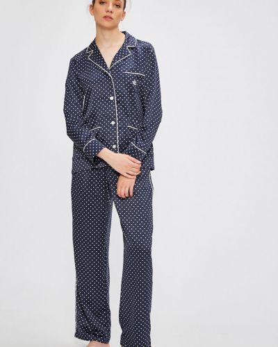 Пижама на пуговицах с длинными рукавами Lauren Ralph Lauren