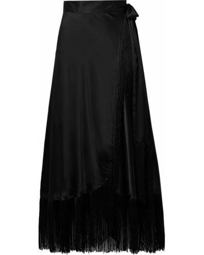 Шелковая юбка макси - черная Miguelina