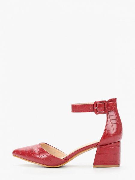 Кожаные туфли красные из искусственной кожи Stephan