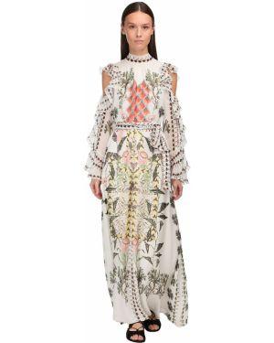 Платье макси через плечо с поясом Temperley London