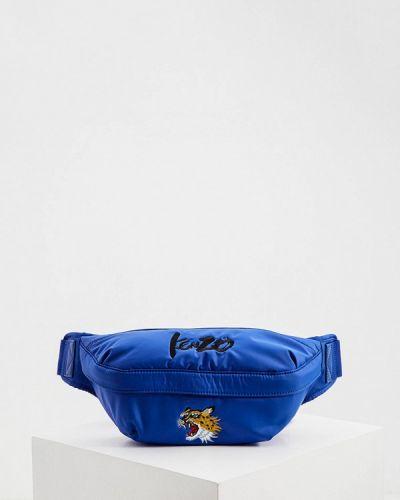 Синяя текстильная поясная сумка Kenzo