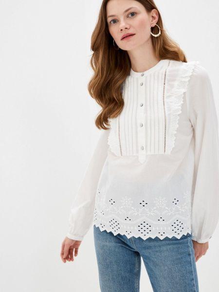Белая блузка с оборками Marks & Spencer