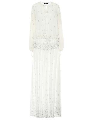 Платье макси шифоновое шелковое Amiri
