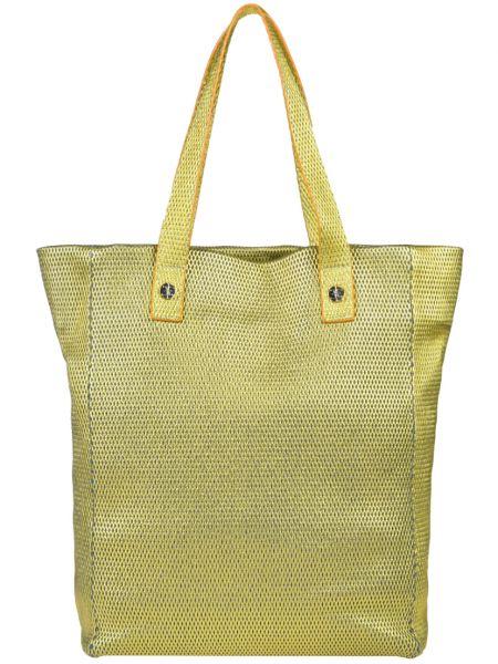 Кожаная сумка - желтая Fabi
