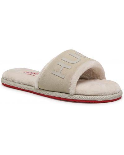 Sandały skórzane - białe Hugo
