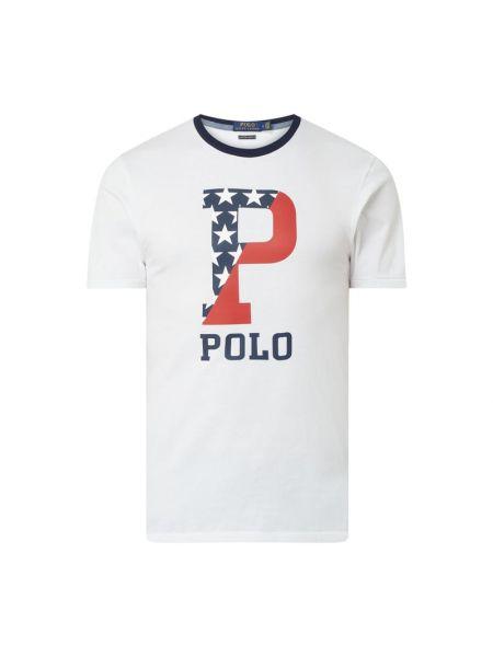 Bawełna biały koszula z dekoltem okrągły Polo Ralph Lauren