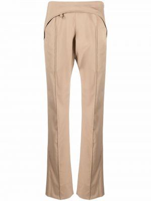 Spodnie z wysokim stanem - beżowe Jacquemus