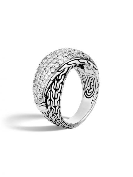 Серебряное кольцо с бриллиантом John Hardy