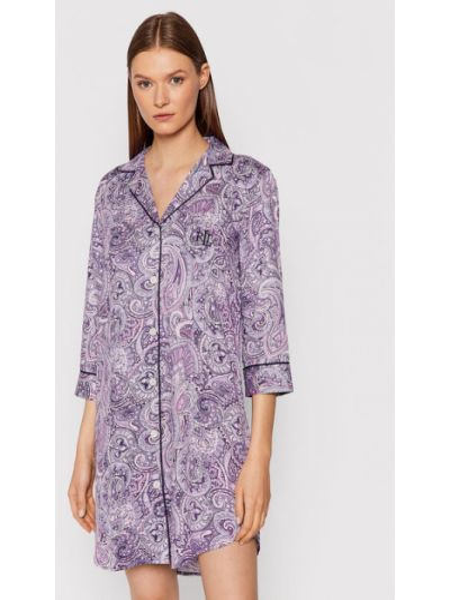 Koszula nocna - fioletowa Lauren Ralph Lauren