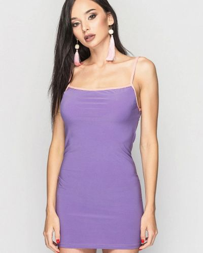 Повседневное платье весеннее фиолетовый 0101 Brand
